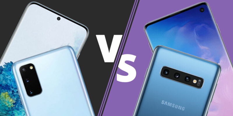 Samsung Galaxy S10 vs S20